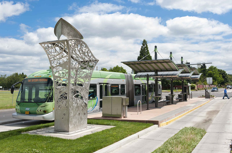 EMX Transit station in Springfield