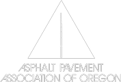 B&W Logo Asphalt Pavement Association of Oregon