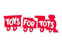 Toys for Tots red train logog